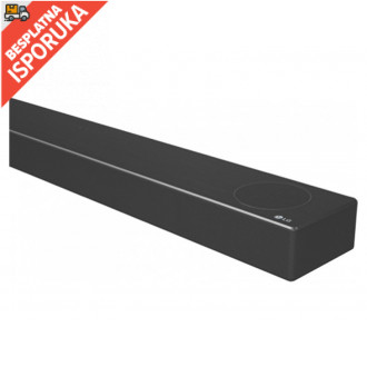 LG SN7Y Soundbar, 3.1.2, 380W, WiFi Subwoofer, Bluetooth, Dolby Atmos, Meridian Audio, Dark Gray